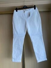 Next White Chino Trousers Size 12 R