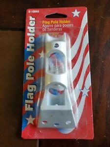 Flag Holder, Aluminum Bracket, 30-Degree Cast Aluminum Flag Pole Holder (X2)