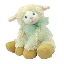 LAHELA LAMB 19cm Baby Girl Plush Non Allergic Soft Toy by First & Main NEW