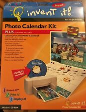 Invent It! Photo Calendar Kit Plus with Software for Inkjet Printers