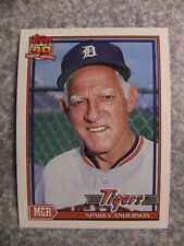 L#606 1991 Topps #519 Sparky Anderson, Detroit Tigers.  NrMt condition
