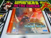 hundred swords  Sega dreamcast cd rom Game japan ntsc j JAP