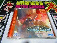 hundred swords  Sega dreamcast cd rom Game japan ntsc j JAP
