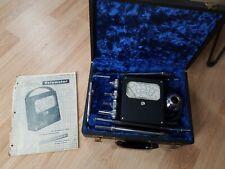 Antique 1950's Alnor Velometer General Use F-2 Blue Fur Case Manual Attachments