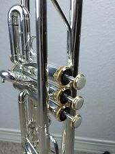 """NEW Wisemann DTR-500SP    """"C"""" Silver Trumpet with Gold Trim Great Valves Value"""