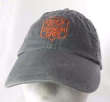 Essex New York Ice Cream Cafe Gray Adjustable Baseball Cap /Hat 100% Cotton