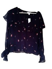 Topshop Cape Embroidery Blouse Size 10 New With Tags