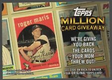 2010 TOPPS MILLION CARD GIVEAWAY #TMC17 ROGER MARIS
