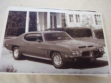 1972  PONTIAC  GTO  11 X 17  PHOTO  PICTURE