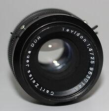 CARL ZEISS JENA DDR Objektiv Lens TEVIDON 1,4/25 mit BAJONETT Anschluss