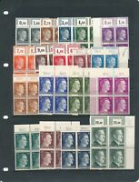 Stamp Germany Mi 781-802 Sc 506-27 Block 1941 WWII War Hitler Corner R Set MNH