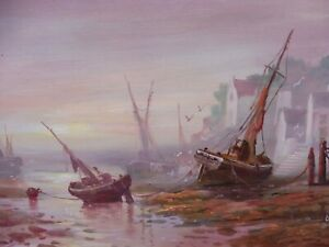 OIL SEASCAPE LISTED ROYAL ACADEMY ARTIST RAYMOND CAMPBELL FREE SHIPPING