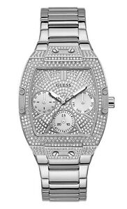 GUESS Women's Quartz Watch with Stainless Steel Strap, Silver, 20 GW0104L1