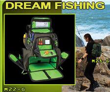 Fishing Tackle Bag Backpack Waterproof Shoulder Box Storage Case + 4 Tackle Box