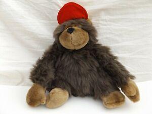 """PMS Monkey Soft Toy Plush Stuffed Animal Baseball Cap Ape Chimpanzee 13"""""""