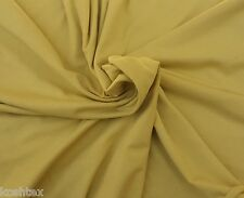 Organic Cotton Spandex Fabric Jersey Knit By Yard Yellow Mustard 4/16