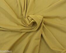 Organic Cotton Spandex Fabric Jersey Knit By the Yard Yellow Mustard 4/16