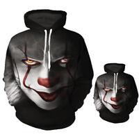3D Clown Hoodie Sweatshirt Men Women Pullover Hoody Tops Casual Sportswear Sport