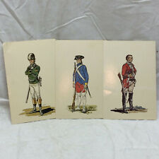 Vtg illustrated Postcard lot of 3 Unused British Foreign Soldiers