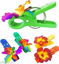 (Set of 4) Beach Towel Tropical Hawaiian Clips for Pool Loungers on Your Cruise