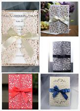 10PCS Laser Cut Wedding Party Invitation Card Gratulation Birthday Engagement