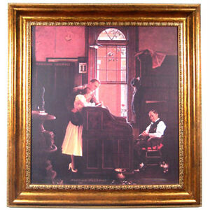 """""""Marriage License"""" by Norman Rockwell Framed Print 27 3/8""""x25 1/2"""""""