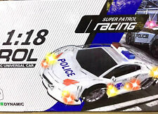 Police Car Music LED Light Cool Toy SUPER PATROL RACING 1:18 Toys for Kids