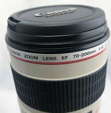 CANON EF 70-200mm f/4.0 IS USM L Lens inc Hood and End Caps