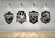 Harry Potter #Hogwarts House Shield Badge Crest Vinyl Sticker Coats Of Arms