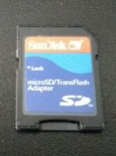 "MICRO SD/TRANSFLASH ADAPTER ""SANDISK"""