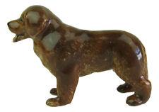 Miniature Porcelain Newfoundland Dog (Red/Tan) Figurine Approx 3.5cm HIgh