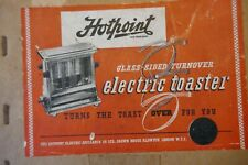 More details for retro hotpoint vintage 2 slice self turning glass door toaster boxed