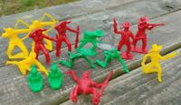 Lot of 15 Original 1950's TIM MEE Cowboy & Indian PLASTIC Play-Set FIGURES Toys