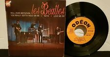 THE BEATLES FRENCH EP/45T SOE 3746 ROLL OVER BEETHOVEN EXC/VG++
