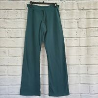 Prana Breathe Drawstring Waist Yoga Pants Flare Leggings Womens small Green