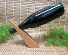 FLOATING WINE BOTTLE STAND HOLDER WOODEN WEDGE STRIPE INLAY GIFT FREE STANDING
