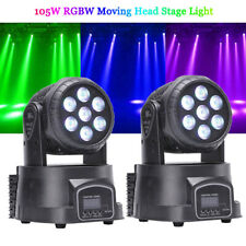 2Pcs 70W RGBW 7LED Moving Head Stage Lighting DMX Show Club Party DJ Lights Lamp