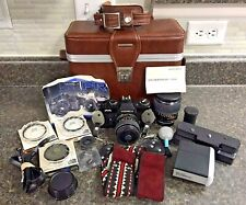 Yashica Fr Film Camera w/ Power Winder, Strobonar, Strap, Case, 2 Lens, Filters