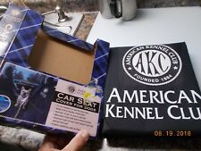 Unused AKC American Kennel Club Black Car Seat Cover with AKC Logo for Dogs