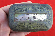 "VINTAGE ""ALLENBURYS"" THROAT PASTILLES TIN.. ALLEN & HANBURYS LONDON MEDICAL"