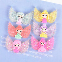 10-pack Mixed Resin Winged Girls Cute Flat Back Craft Making Decors 25x27mm