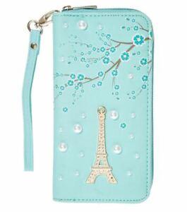 Claire's Club Girls Mint Paris Pearl Wallet Wristlet  NEW