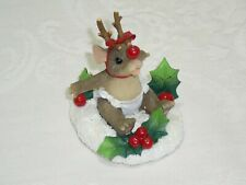 """Charming Tails ~ """"The Littlest Reindeer"""" ~ Fitz & Floyd Mouse Figurine"""