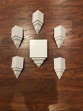"""Crown Molding Corners 6 Pieces (5) Insides (1) Mid transition For 3 5/8"""" Crown!"""