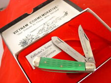 "Troublesome Creek 4-1/8"" 2 Blade Vietnam Commemorative Trapper Knife MINT"
