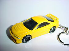 3D YELLOW 2001 ACURA INTEGRA GSR CUSTOM KEYCHAIN keyring key racing finish 01