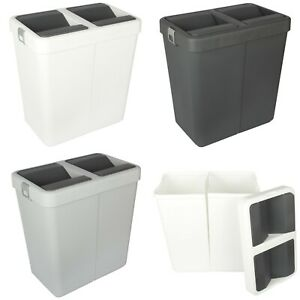Rubbish Waste Bin Recycling Dual Compartment 80L.