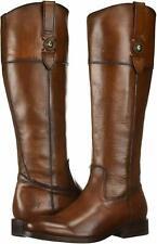 Frye Womens Jayden Button Almond Toe Knee High Fashion Boots, Cognac, Size 9.5