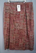 Adini skirt plus size 3X NWT brown rust cotton faux wrap NEW ethnic print TWJ