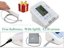FDA&CE Digital Upper Arm Blood Pressure Monitor NIBP Cuff PC Software+SpO2 Probe